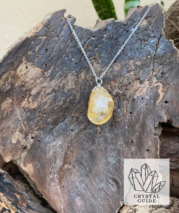 Citrine Silver Necklace