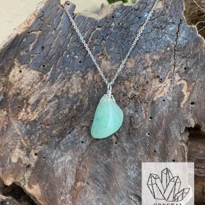 Green Aventurine Silver Necklace