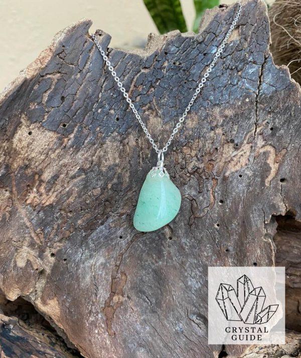 Green Aventurine Silver Necklace