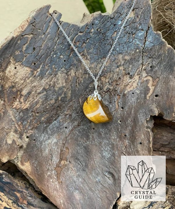 Tigers eye Silver Necklace